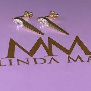 NEW Melinda Maria Ariana Single Spike Earr…